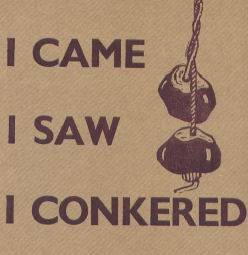 I came I saw I conkered
