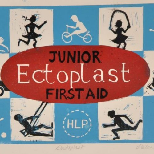 Elastoplast – 4 Colour Reduction Linocut