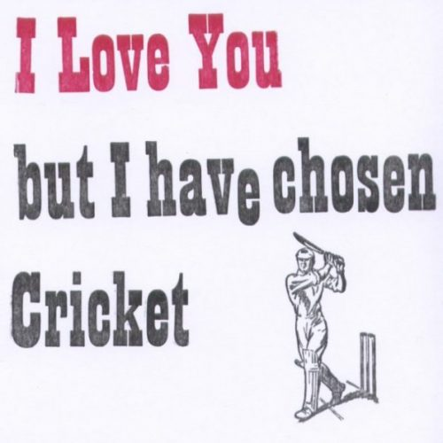 Letterpress Card – Cricket