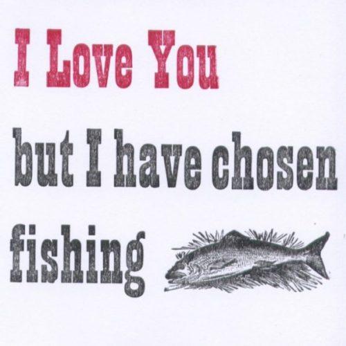 Letterpress Card – Fishing