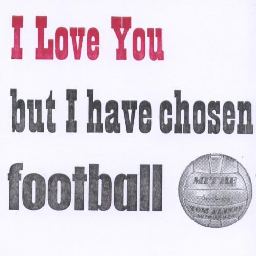 Letterpress Card – Football