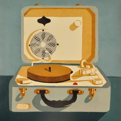 Record Player – Postcard