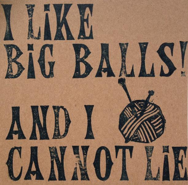 Letterpress Card – Yarndale Balls