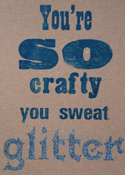 Letterpress Card – Yarndale Crafty