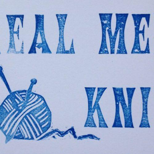 Letterpress Card – Yarndale Real Men Knit