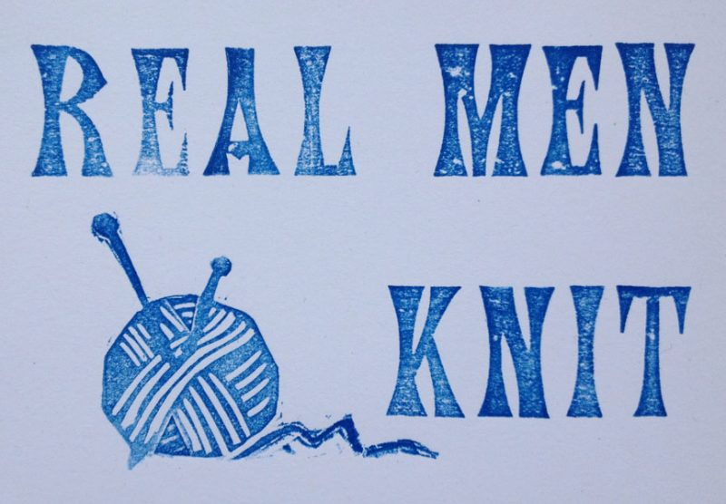 Letterpress Card – Yarndale Real Men Knit