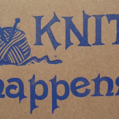 Letterpress Card – Yarndale Knit Happens