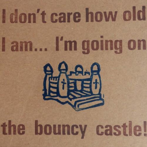 Letterpress Card – Bouncy Castle