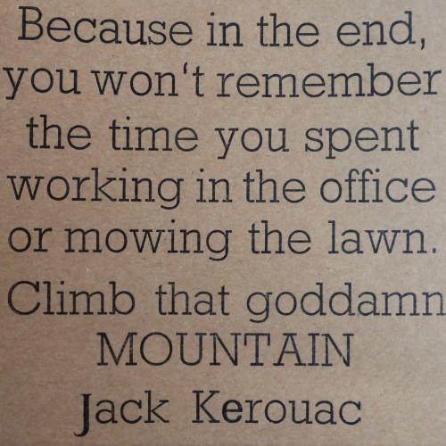 Letterpress Card – Jack Kerouack