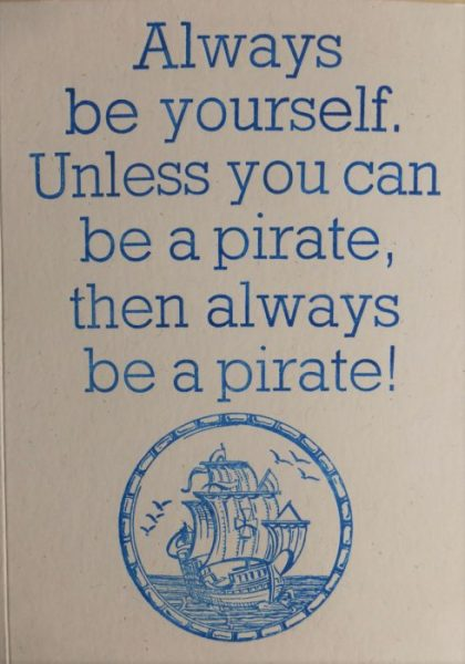 Letterpress Card – Pirate