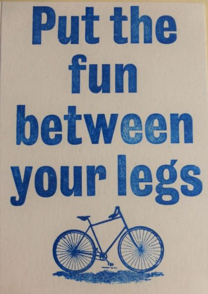 Letterpress Card – Fun Between Your Legs