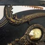 detail of columbian printing press