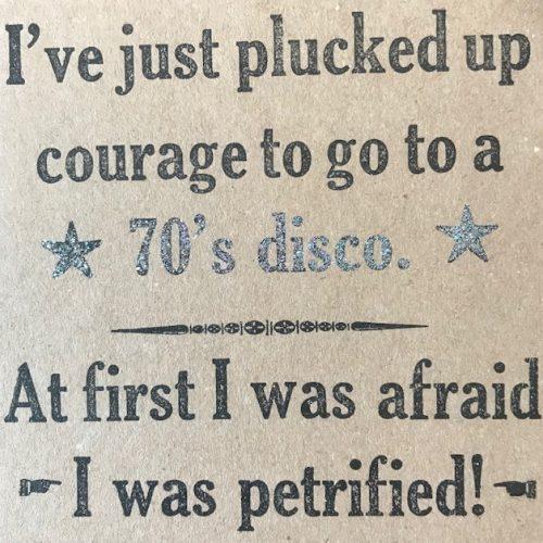 Letterpress Card – Disco