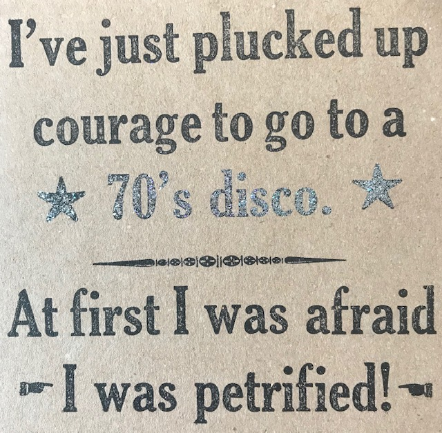 Letterpress Card – Disco