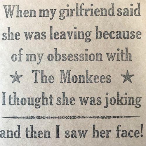 Letterpress Card – Monkees